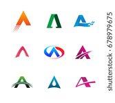 letter a logo collection set....   Shutterstock .eps vector #678979675