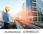 close up engineers working on a ... | Shutterstock . vector #678980125