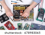 computer upgrade of motherboard ... | Shutterstock . vector #678983065
