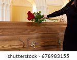 people and mourning concept  ...   Shutterstock . vector #678983155