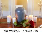 funeral and mourning concept  ... | Shutterstock . vector #678985045