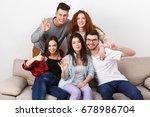 happy students friends having...   Shutterstock . vector #678986704
