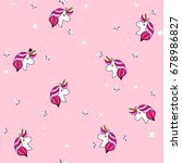 seamless pattern with unicorn ... | Shutterstock . vector #678986827