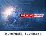 news vector background ... | Shutterstock .eps vector #678986854