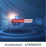 news vector background ...   Shutterstock .eps vector #678986905
