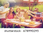 leisure  holidays  eating ... | Shutterstock . vector #678990295