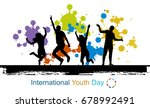 international youth day... | Shutterstock . vector #678992491