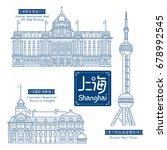 building line art vector... | Shutterstock .eps vector #678992545