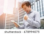 investor young businessman... | Shutterstock . vector #678994075