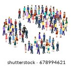isometric flat 3d isolated... | Shutterstock . vector #678994621