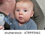Newborn Boy Doing Inhalation...