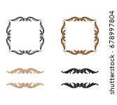 baroque vector set of vintage... | Shutterstock .eps vector #678997804