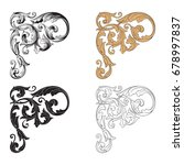 baroque vector set of vintage... | Shutterstock .eps vector #678997837