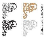 baroque vector set of vintage... | Shutterstock .eps vector #678997837
