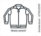 track jacket sportswear minimal ... | Shutterstock .eps vector #679010395