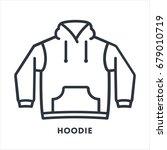 hoodie sweatshirt clothing...   Shutterstock .eps vector #679010719