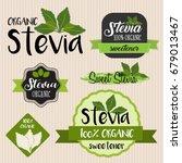 stevia food label set | Shutterstock .eps vector #679013467