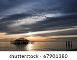 The West Pier In Brighton At...
