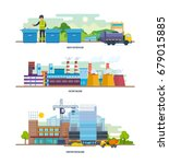 waste for recycling  factory ...   Shutterstock .eps vector #679015885
