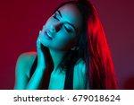 studio creative portrait of a... | Shutterstock . vector #679018624