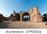 Basilica of Maxentius-Constatine at the Roman Forum in Rome, Italy