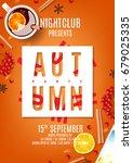 beautiful orange flyer for... | Shutterstock .eps vector #679025335