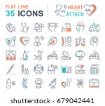 set vector line icons  sign and ... | Shutterstock .eps vector #679042441