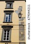 detail of old building in pisa  ...   Shutterstock . vector #679044211