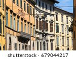 old  grunge buildings in line...   Shutterstock . vector #679044217