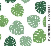 seamless pattern with green... | Shutterstock .eps vector #679045867