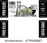 ticket for the performance and... | Shutterstock .eps vector #679048687