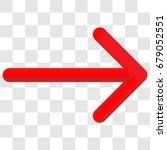 3d right arrow. 3d red arrow... | Shutterstock .eps vector #679052551