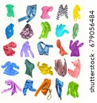 colorful colored clothes on a... | Shutterstock . vector #679056484