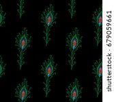seamless pattern with little... | Shutterstock .eps vector #679059661
