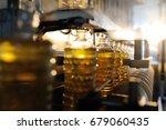 sunflower oil. line for the... | Shutterstock . vector #679060435