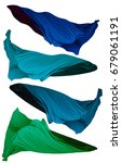 fabric cloth flowing on wind ... | Shutterstock . vector #679061191