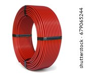 Red Plastic Rolled Hose Pipe Or ...