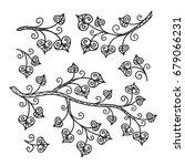 vector  contour illustration ... | Shutterstock .eps vector #679066231