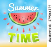 summer poster with juicy... | Shutterstock .eps vector #679066579