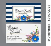 floral style business card... | Shutterstock .eps vector #679073719