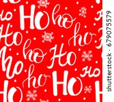 ho pattern with snowflakes.... | Shutterstock .eps vector #679075579