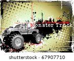 poster of the monster truck - stock vector