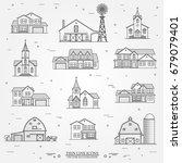 set of thin line icon suburban... | Shutterstock .eps vector #679079401