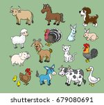 farm animal cute cartoon vector ... | Shutterstock .eps vector #679080691