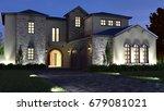 3d exterior night render   Shutterstock . vector #679081021