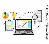 flat illustration of web... | Shutterstock . vector #679082317
