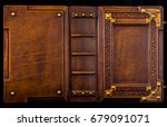 medieval book cover  leather... | Shutterstock . vector #679091071
