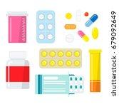 Pills And Capsules Set....