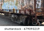 Abandoned Train Car Covered In...