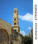 Small photo of Khan Al-Umdan Ottoman tower building. Akko (Acre). Israel